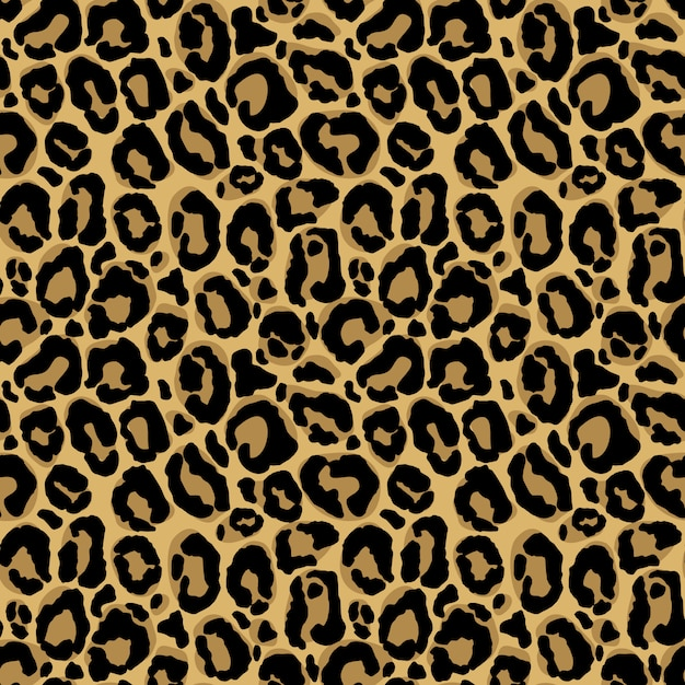 Animal Print Seamless Pattern With Leopard Fur Texture