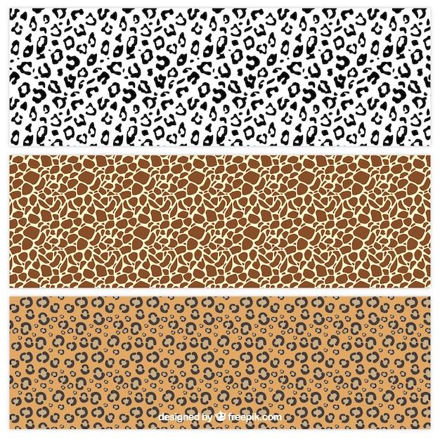 Animal prints patterns collection Premium Vector