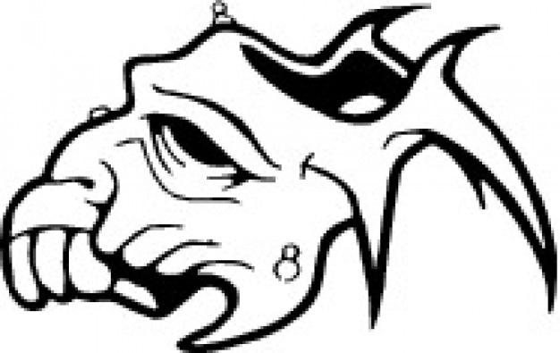 animal skull side vector free download