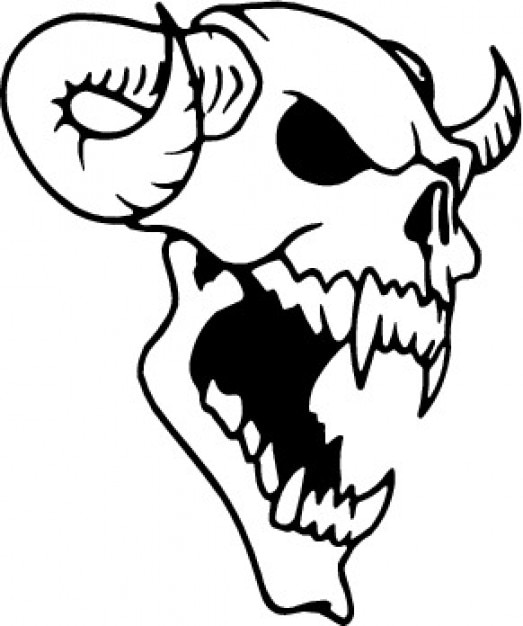 Animal skull with horns Vector | Free Download