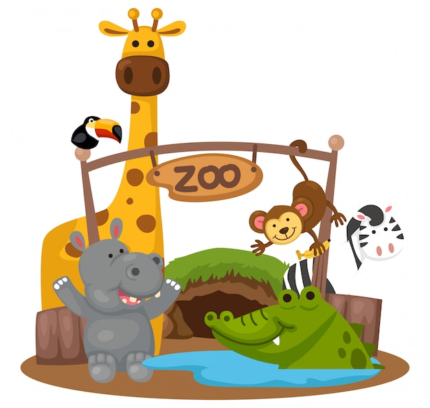 Animal zoo vector Premium Vector