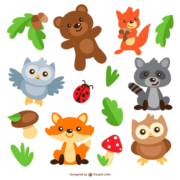 cartoon animals images  Animals cartoons pack | Stock Images Page | Everypixel