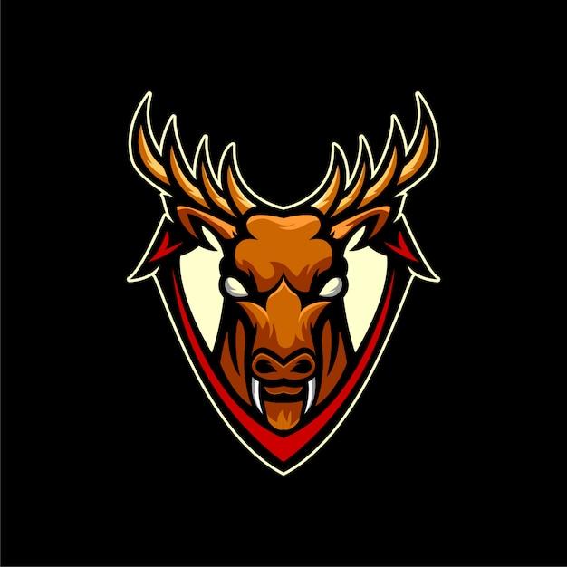 Животные олень логотип спортивный стиль Premium векторы