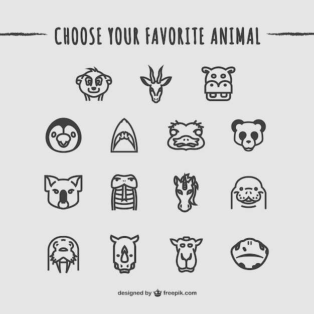 animals icons pack free vector - Free Pics Of Animals