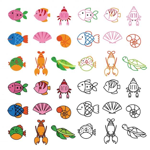 Animals number vector design Premium Vector
