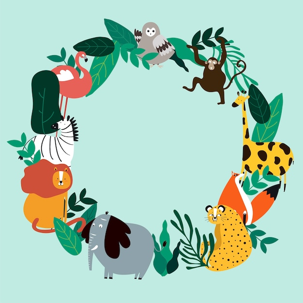 Animals theme template vector\ illustration