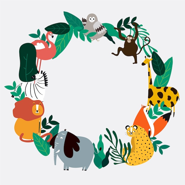 Animals theme template vector illustration Free Vector