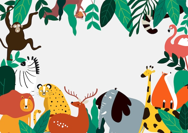 Animals theme template vector illustration Free Vector