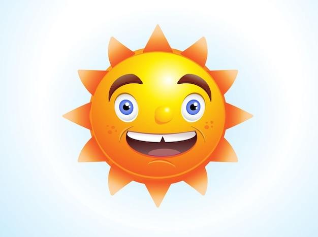 Animated cartoon character Sun vector\ pack