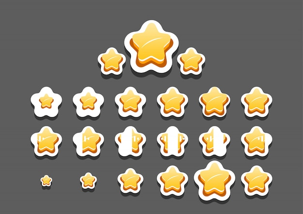 Animated stars for video game Premium Vector