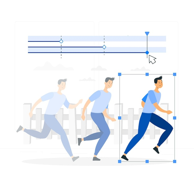 Illustrazione di concetto di animazione (movimento) Vettore gratuito