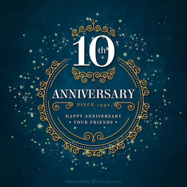 Anniversary Elegant Background Vector Free Download