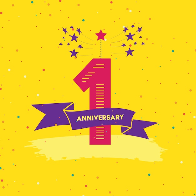 Anniversary background design Free Vector