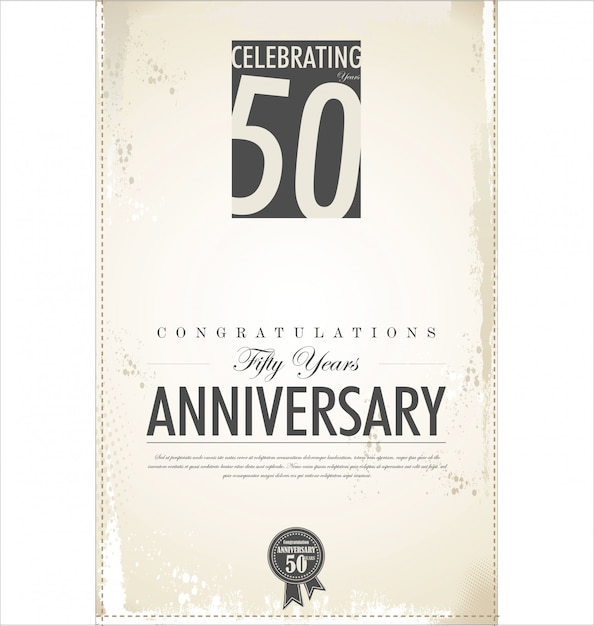 Anniversary background Premium Vector