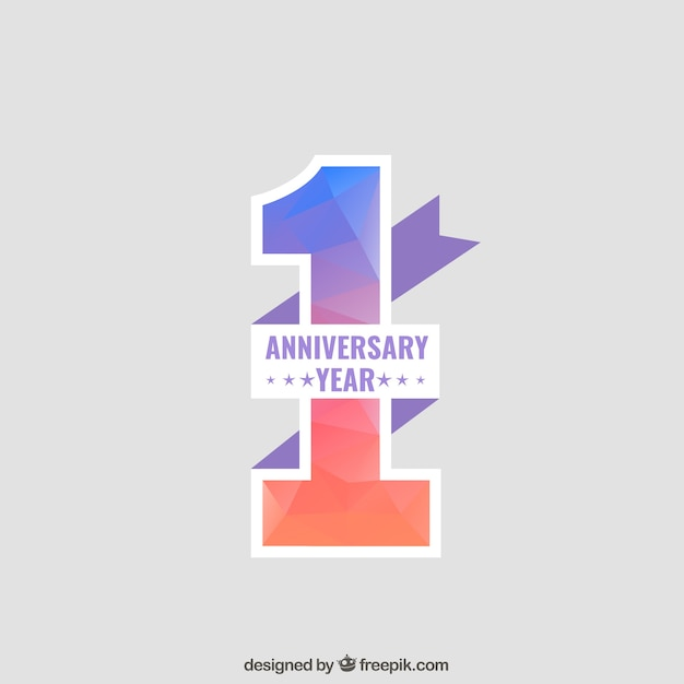 One Year Business Anniversary Quotes: Anniversary Background Vector