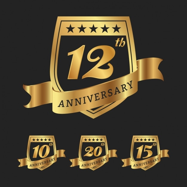 Anniversary vectors photos and psd files free download anniversary badges collection altavistaventures Image collections