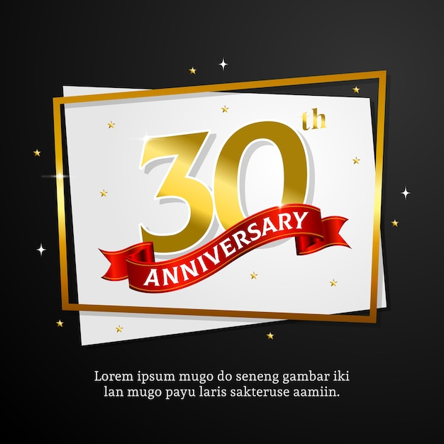 Anniversary Card Template Vector  Premium Download