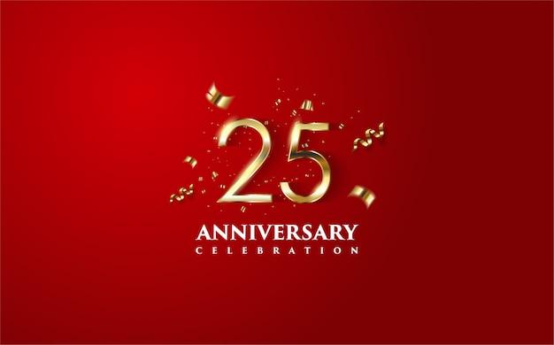 Фон празднования годовщины. Premium векторы
