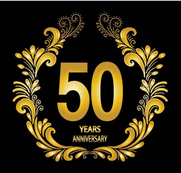 Anniversary celebration card Premium Vector