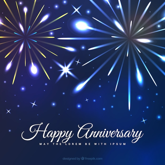 Anniversary Fireworks Background Vector Free Download