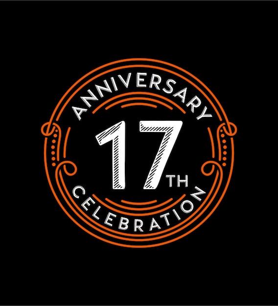 Anniversary Premium Vector