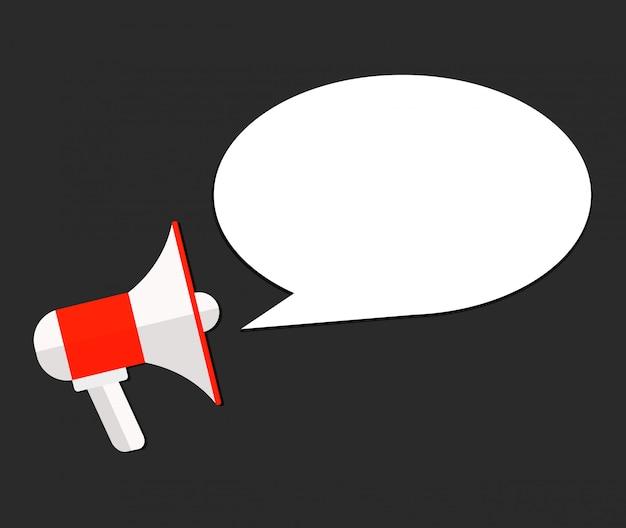 Announcement loud speaker vector template flat Premium Vector