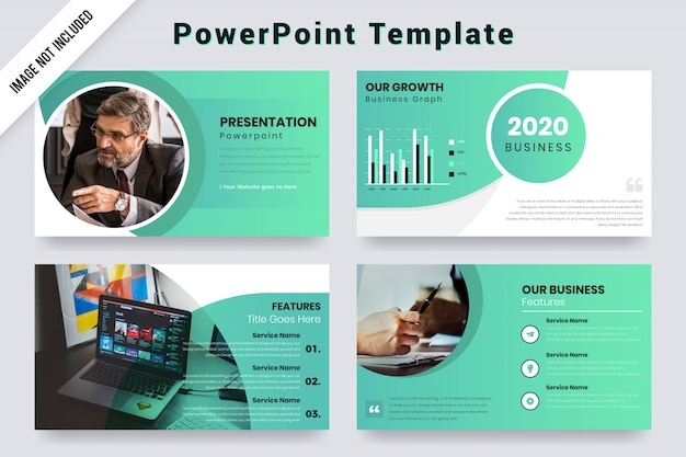 Annual business presentation design concept with infographic elements. Premium Vector