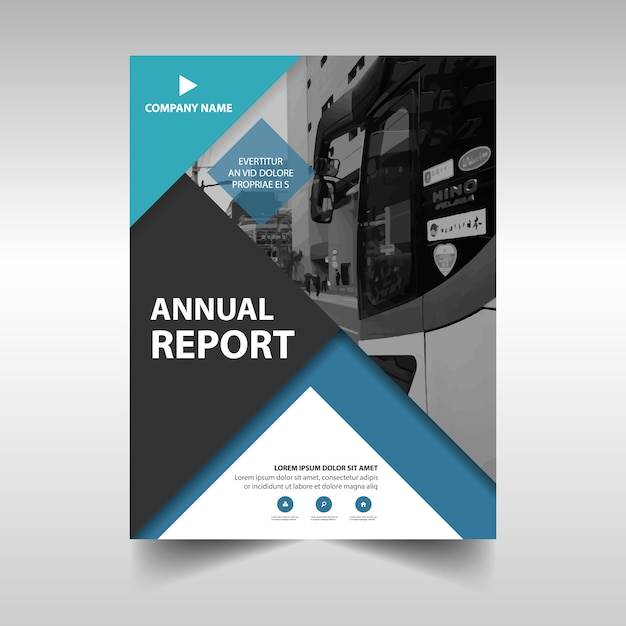 Annual business report template vector free download annual business report template free vector flashek