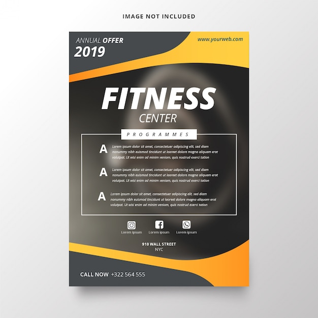Annual plan for fitness center template Free Vector