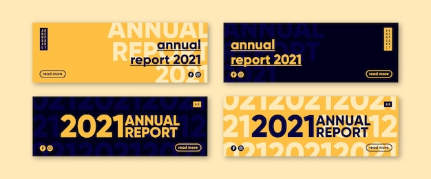 Banner di relazione annuale Vettore gratuito