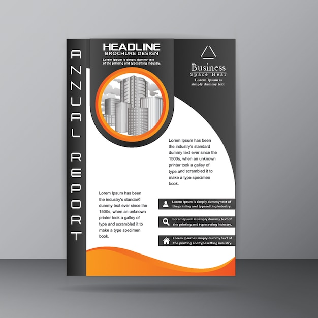 Annual report brochure template for corporate company purpose Free Vector