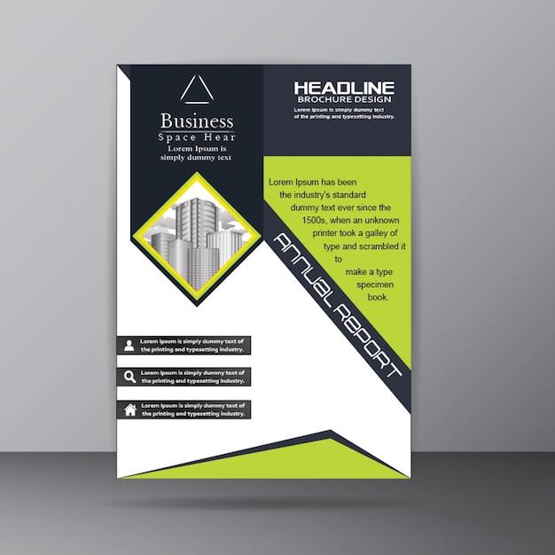 Annual report brochure template for corporate company purpose Free Vector