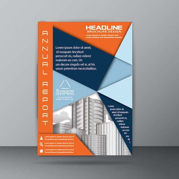 Annual Report Brochure Template For Corporate Company Purpose Vector