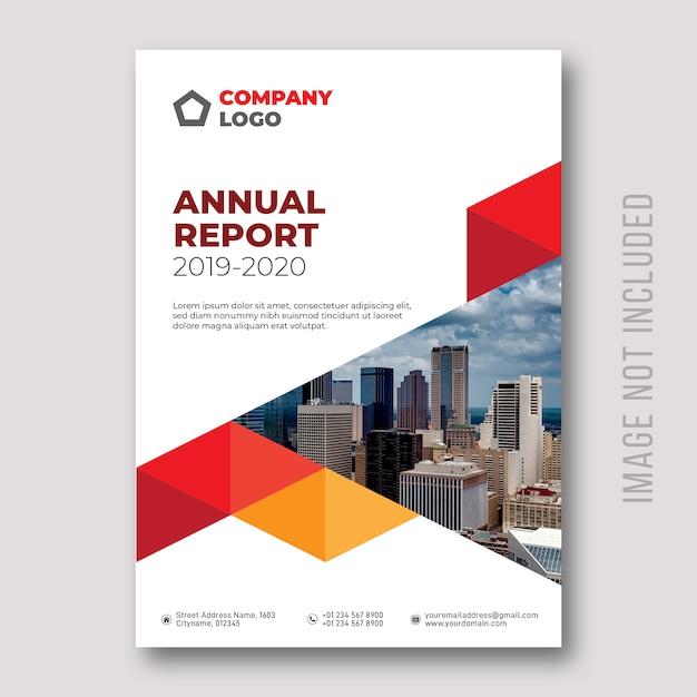 Annual report cover design Premium Vector