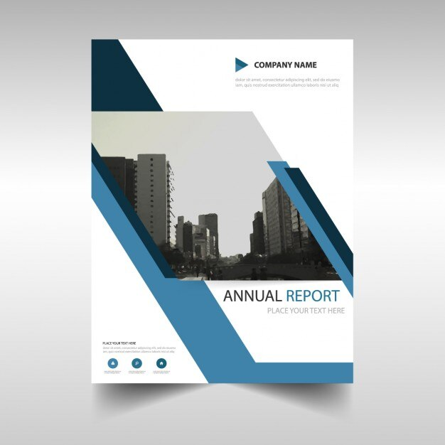 annual report cover in abstract design vector free download