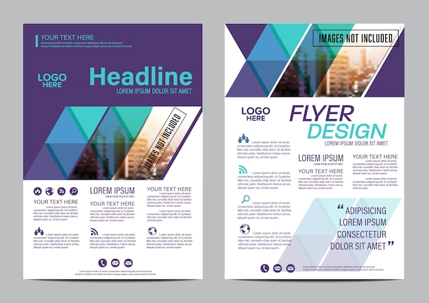 Annual Report Cover Page Layout Design Template Vector