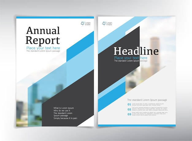 Annual report cover pages blue theme vector premium download annual report cover pages blue theme premium vector sciox Choice Image