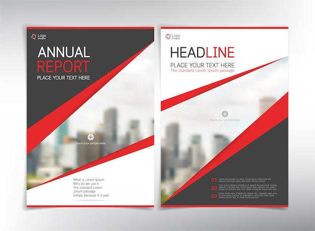 Annual Report Cover Pages Vector  Premium Download