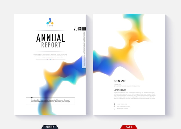 Book Cover Typography Map ~ Annual report cover template collection design for