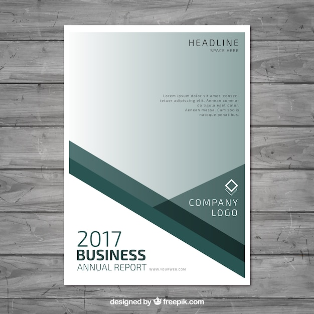 Annual report template design Vector | Free Download