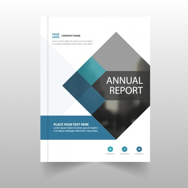 Annual report template for business vector free download for Book cover page design templates free download