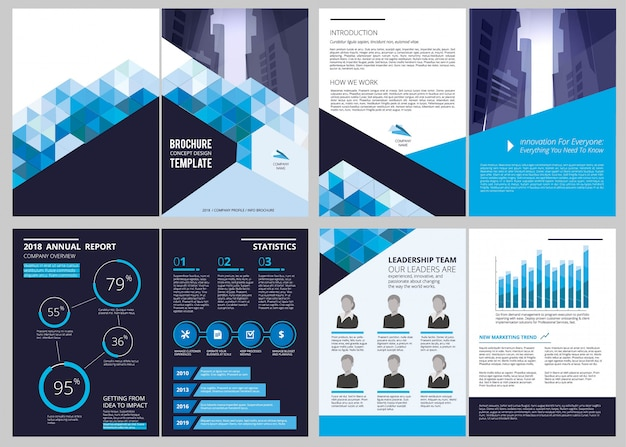 Annual report template. simple document financial magazine cover business brochure  design layout Premium Vector