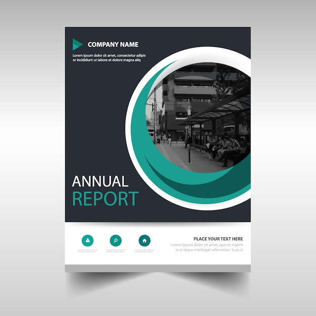 Annual Report Template With Circle Vector Free Download