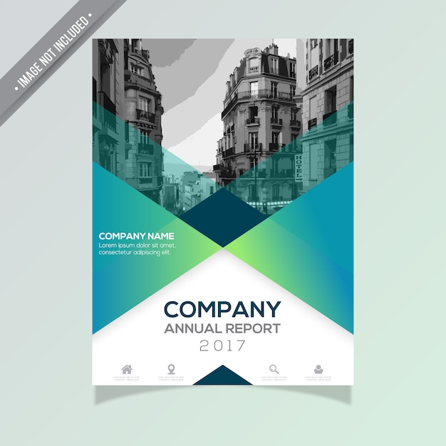 Annual Report Template Free Vector