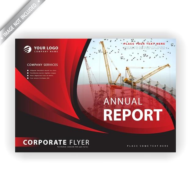 年次報告書テンプレート 無料ベクター
