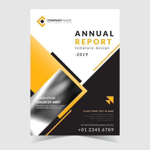 Annual report template Premium Vector