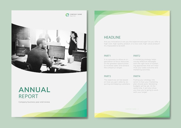 Annual report Free Vector