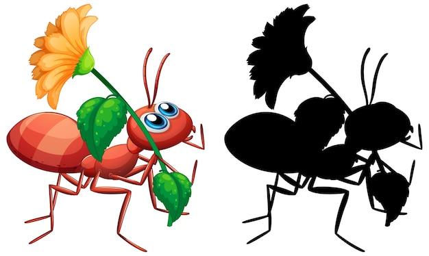 Insieme del fiore della holding della formica Vettore gratuito