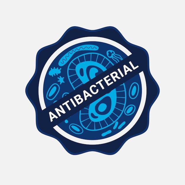 抗菌ロゴデザイン 無料ベクター