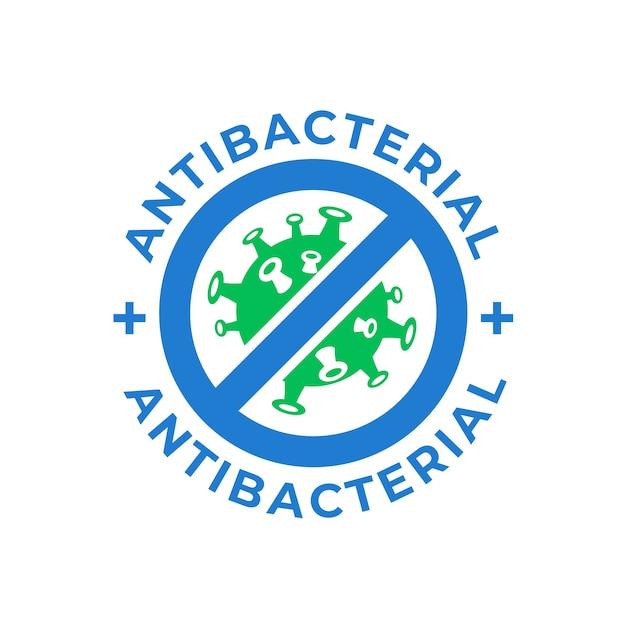 Антибактериальный логотип Premium векторы